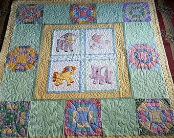 Vintage Style Baby Quilt 48x48