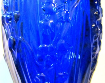 Lily of the Valley Cobalt Blue Challis