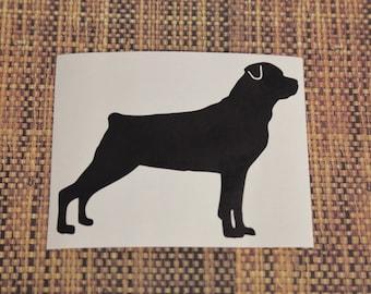 SUMMER SALE! Rottweiler Crop Tail Car Laptop Vinyl Decal Sticker