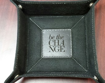 Personalized Leather Catch-All - Travel Organizer - Engraved Catch-All - Personalized Free - Gift Idea