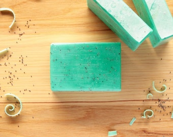 Bay Rum Handmade Soap, Natural Soap, Blue Soap, Teal Soap, For Men, Cold Process Soap, Moisturizing Soap, Homemade Soap, Made in Michigan
