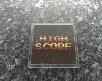 High Score Coaster. Retro Videogame Memorabilia. Arcade