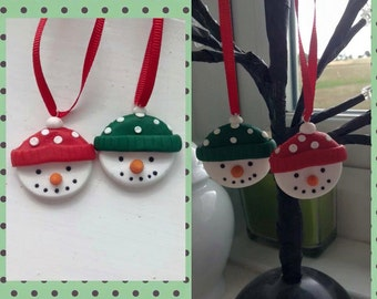 Snowman christmas tree decoration ornament
