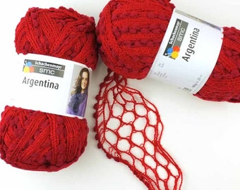 Ruffle Scarf Yarn, 2 pack SALE Argentina, Red mix