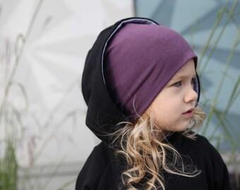 Bambeanie - Eggplant - Slouchy Beanie - Kids Slouchy Hat - Kids Hat - Kids Beanie