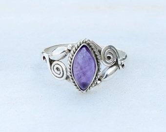 Amethyst stone  ring, silver ring, Amethyst ring ,silver  ring,925 sterling silver ring, special ring,amethyst stone silver ring,RNSLAM6