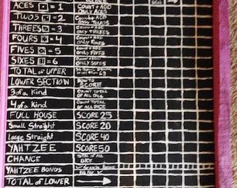 Yard Zachtzee Score Board