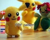 Crochet pattern Pikachu (Pokemon)