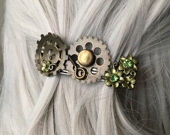 Elven Hair Jewelry, Fantasy Headpiece, Steampunk Hair Accessories - Hair Clips Women