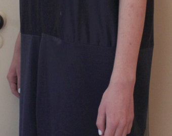 1920s Dark Blue Flapper Dress