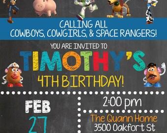 Custom Toy Story Birthday Invitation