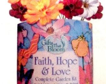 Faith, Hope, Love Garden Grocan