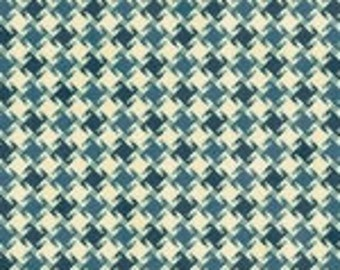 """Teal squares Christmas Fabric/""""My Precious Quilt"""" collection_8538-77"""