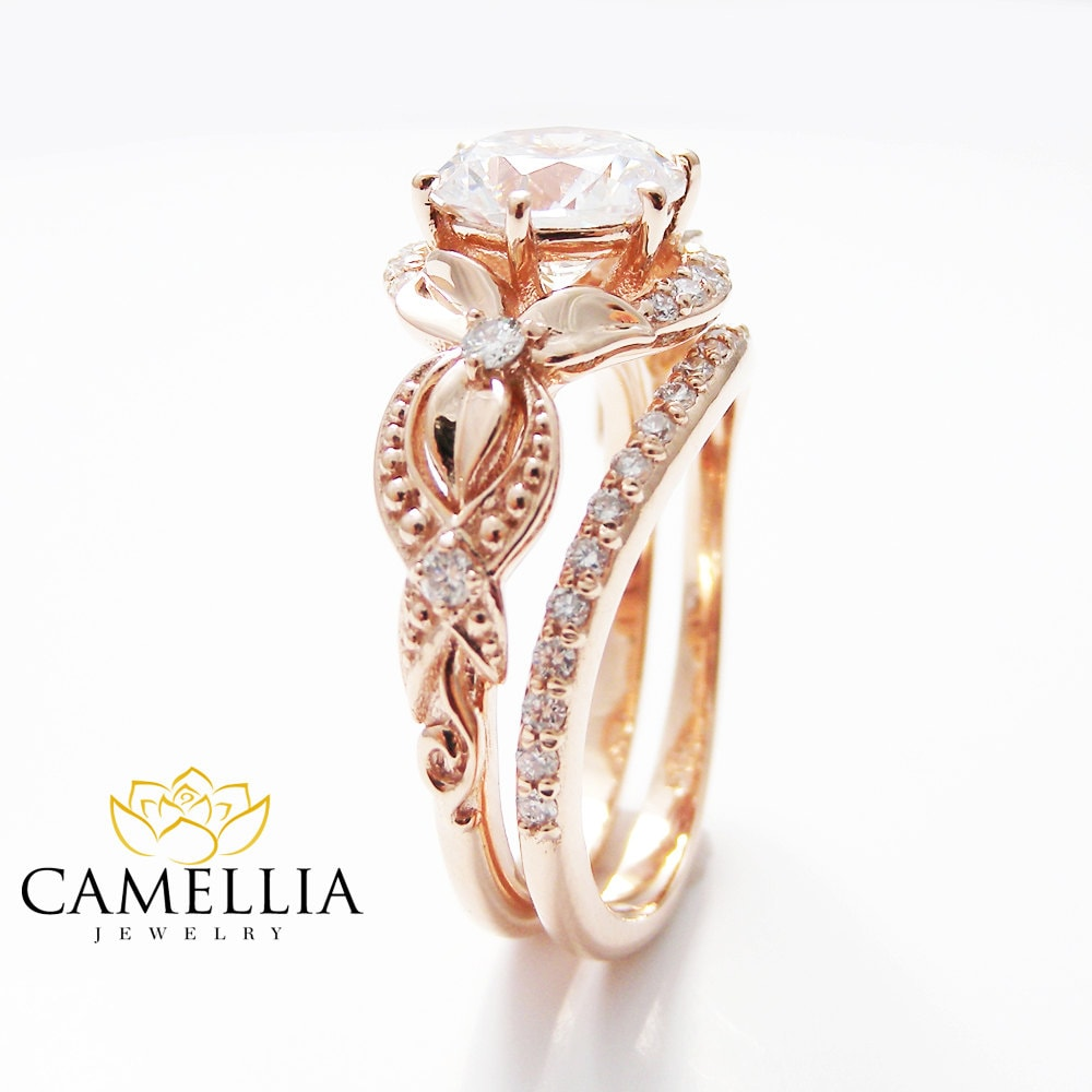 Rose Gold Vintage Wedding Rings Www Pixshark Com