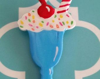 Handpainted Ice cream sundae pin