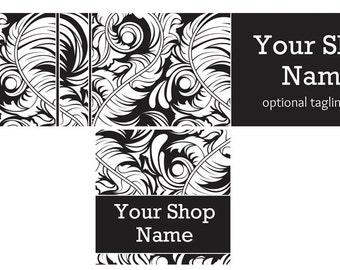 Dark Shop Banner, Shop Cover and Shop Icon, Dark Cover Graphic, Dark2