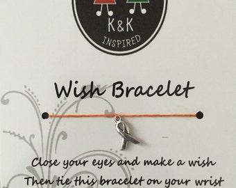 Leukemia Awareness Wish Bracelet