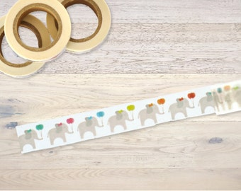 Masking Tape with elefants and balloons Washi Tape