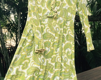 Vintage 70s Paisley hippie dress