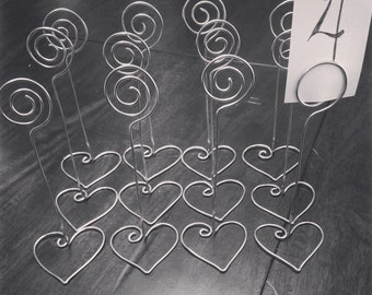10 Wire Table Number Holders with Base