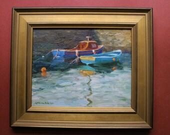 Kinsale Harbor, Ireland, Original Oil Painting, Boats