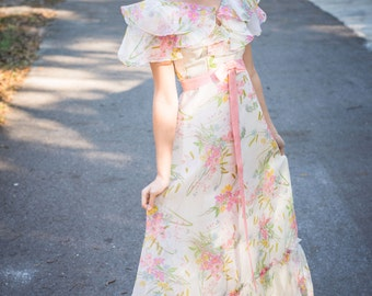 1960s Garden Party Gown