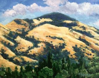 Mount Diablo Original Acrylic Painting