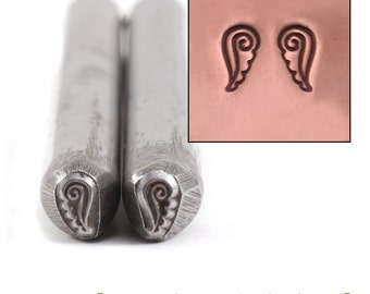 Wings / Angel Wings Metal Design Stamp 2.5mm x 5mm - Metal Stamping / Punch Tools for Metal Stamped DIY Jewelry Making Tools (DS284)