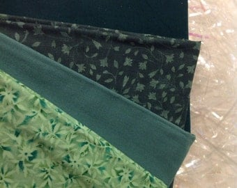 Vintage Calico greens quilting fabric