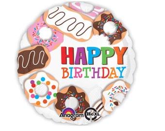 "Donut Balloons, 18"", 30"", Sprinkles Balloon, Dessert, Latex, Doughnut, Balloon, Donut Party, Birthday Party, Balloons, Party Balloons,"