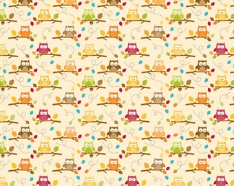 "SALE By the Yard C4033-CREAM Harvest Friends Riley Blake Designs ""Happy Harvest"" by Doodlebug 100% cotton by the Yard"