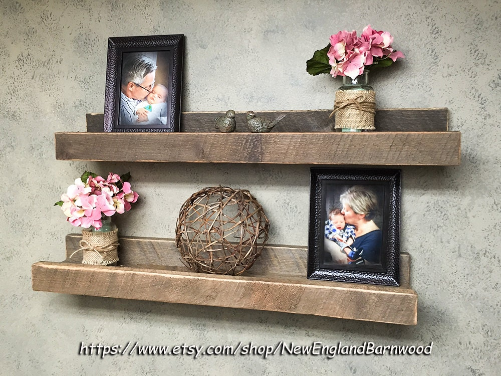 Decorative Wall Shelves For Bathroom : Gallery wall shelf rustic home decor bathroom