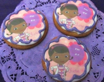 12 Doc Stuffins age sugar cookies