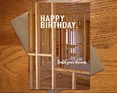 Birthday Card For Him / Dad Card / Guy Birthday Card / Builder Birthday Card / Construction Card / Home Builder Card / Renovation / 5x7