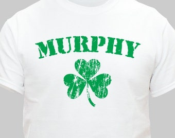 Personalized Irish Shamrock Child's T-Shirt, Child's Irish Name Shirt