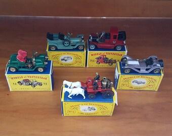 Vintage Matchbox Cars - lot of 5