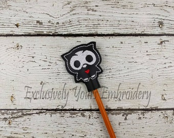 Owl Skellie Pencil Toppers - Classroom Prizes - Party Favor - Skeleton - Party Supplies - Small Gift - Back to School