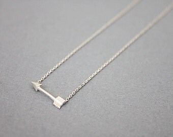 Silver Tiny Arrow Charm Necklace Tiny Charm Necklace Wedding Jewelry Bridesmaid Gifts Birthday Gifts