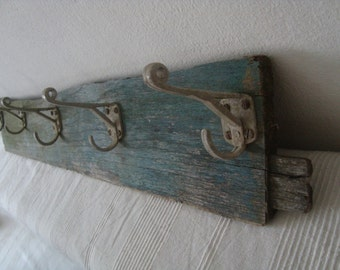 Unique rustic coat rack,coat hanger in original condition  from 1910s