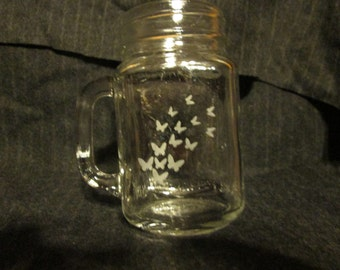 Fluttering Butterfly Mason Jar Mug, Perfect Mother's Day Gift Idea