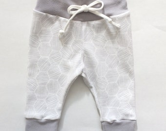 Baby Leggings Newborn Leggings gray grey white soft