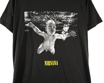 NIRVANA,  Kurt Cobain, Smell like teen spirit, Alternative punk rock,T shirt,