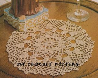 Shangrila Doily, Instant Download, Vintage 1980s, Instant Download, Crochet PDF Pattern