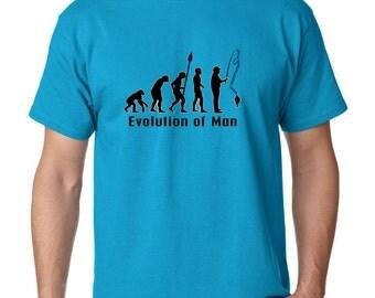 Evolution Of A Fisher Man Fishing Angler T Shirt T-Shirts Fishing TShirt Fishing Tee TShirt Fathers Day Gift Mens Tshirt Christmas Gift