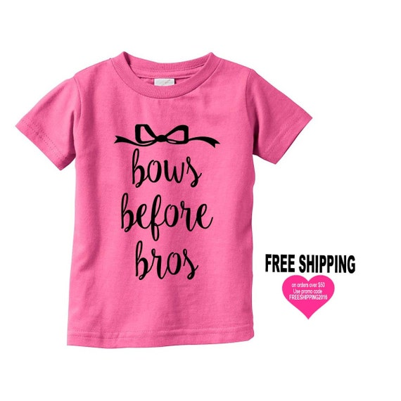 bows before bros INFANY t-shirt, Gift for Kids, Baby Shower Gift, Gift for Baby, Funny T-shirts, Funny Shirts, Infant Shirt, Baby Shirt