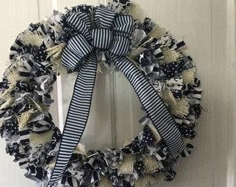 Nautical Rag Wreath