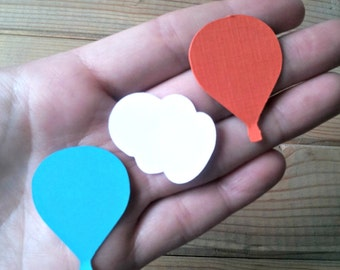 Hot Air Balloon Confetti - up up away party - hot air balloon party - die cuts - party supplies