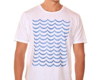 Contrast Stitch Tee  Waves
