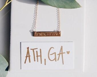 Athens, GA Coordinate Necklace