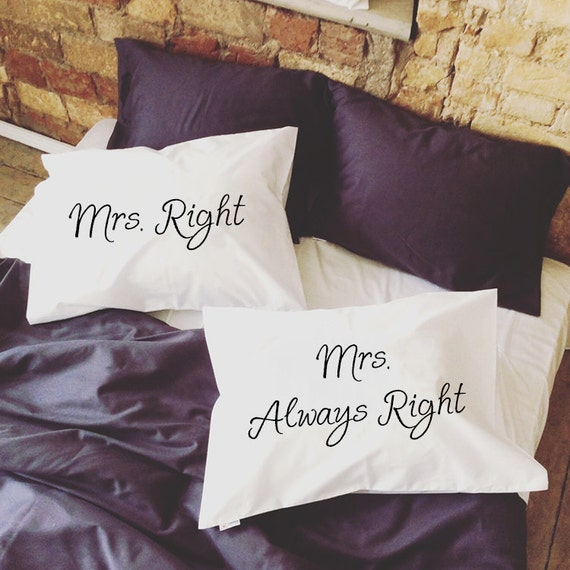 Lesbian Wedding Gift Mrs Right Mrs Always Right lesbian